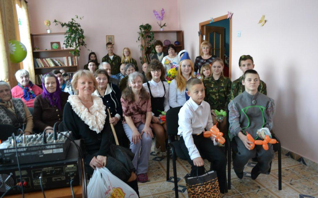 Проект «Подарите радость старикам». 17 марта 2015, Бабиновичское отделение для престарелых. Детский социальный приют и центр для детей-инвалидов. Лиозненский район.
